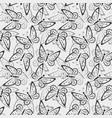 seamless pattern butterflies contours vector image