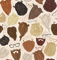 Seamless pattern of hipster beards and eyeglasses vector image vector image