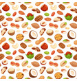 seamless pattern with of nuts vector image vector image
