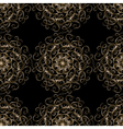 Seamless vintage elegant lace gold vector image
