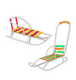 set of different kinds of winter sled vector image vector image