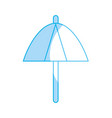 silhouette umbrella protection of the change vector image vector image