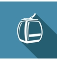 Ski lift icon vector image