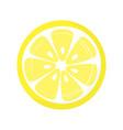 slice lemon isolated on white background vector image vector image