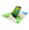 Smartphone and map vector image