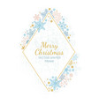 snow flake frame white background xmas framework vector image vector image