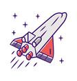 spaceship color icon flying spacecraft aerospace