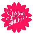spring sale simple icon vector image vector image