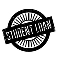 Student loan stamp vector image vector image