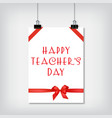 stylish background for the holiday teachers day vector image