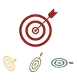 Target with dart icon set Isometric effect vector image