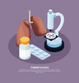 tuberculosis prevention concept vector image vector image