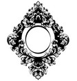 vintage baroque mirror frame french luxury vector image vector image