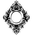 vintage baroque mirror frame french luxury vector image vector image