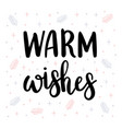 warm wishes christmas greeting card with vector image vector image