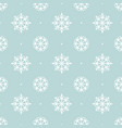 white snowflakes on a blue background christmas vector image
