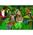 Wild animal in the jungle vector | Price: 3 Credits (USD $3)