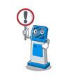 with sign digital information cartoon kiosk above vector image