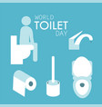 world toilet day vector image