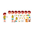 asian boy kindergarten kid animation vector image vector image