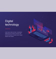 augmented reality concept smart city technology vector image vector image