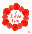 background with i love you vector image