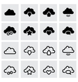 black clouds icon set vector image vector image