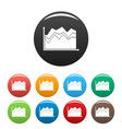 business graph icons set collection circle vector image vector image