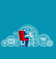 businessman working concept business office work vector image