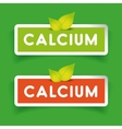 calcium label set vector image vector image