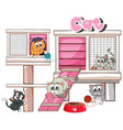 cathouse with many cats vector image vector image