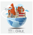 Chile Landmark Global Travel And Journey vector image vector image