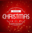 christmas card with glitters background red vector image