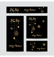 Christmas cards design vector image vector image