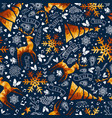christmas gold low poly luxury seamless pattern vector image vector image