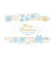 christmas snow flake frame white background vector image vector image
