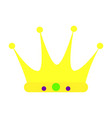 colorful carnival crown vector image