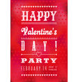 Colorful Happy Valentines Day Party Poster vector image vector image