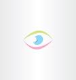 colorful logo abstract human eye icon vector image vector image