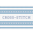 Decorative cross stitch needlework design vector image