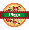 delicious pizza design vector image vector image