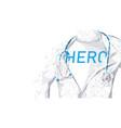 doctors super hero doctors and nurses fighting vector image vector image