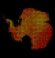 dot orange antarctica map vector image vector image