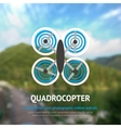 Drone Quadrocopter Background vector image vector image
