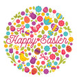 easter holiday celebration symbolic animals and vector image vector image