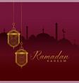 elegant ramadan kareem festival greeting with vector image vector image