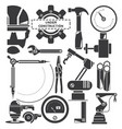 engineer and industrial tool icons vector image vector image
