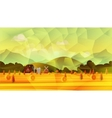 Farm low poly background vector image vector image