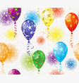 festive seamless pattern with balloons and vector image