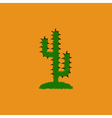 flat icon design collection cactus sign vector image